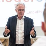 Nationalrat und Gewerbedirektor Hans-Ulrich Bigler in Mosnang. (Bild: Sascha Erni)