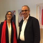 Die zwei SP-Leute für die Stadtratswahlen 2020: Judith Dörflinger und Beat Züsli. (Bild: Robert Knobel)