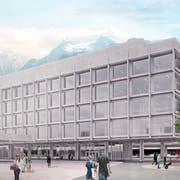 So wird das neue Gebäude der UKB am Kantonalbahnhof aussehen. (Visualisierung: PD)