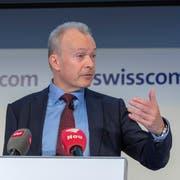 Urs Schaeppi, CEO Swisscom, am Donnerstag in Zürich. Bild: Walter Bieri/Keystone