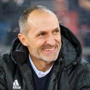 Trainer Thomas Häberli hat nach dem 3:1 in Zürich gegen GC gut lachen - es ist sein erster Sieg mit dem FCL. (Martin Meienberger/Freshfocus (Zürich, 2. März 2019))