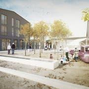 Mit dem Projekt «Älter werden im Quartier» soll in Bronschhofen ein lebendiges Zentrum entstehen. (Visualisierung: PD)