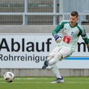 FCL-Jungtorhüter Loïc Jacot bei seinem Debüt bei den Profis im Testspiel gegen den FC Winterthur am 8. Januar 2019 in Kriens. (Bild: Martin Meienberger/Freshfocus)