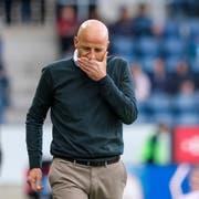 Für den FC St.Gallen und seinen Trainer Peter Zeidler gab es in Luzern wieder einmal nichts zu holen. (Bild: Freshfocus)