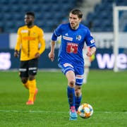 Ist endlich wieder für den FC Luzern am Ball: Claudio Lustenberger. (Bild: Martin Meienberger/Freshfocus (Luzern, 10. April 2019))