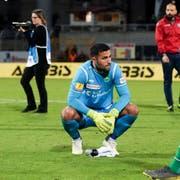 Einer der wenigen St.Galler, welcher Betriebstemperatur erreichte: Goalie Dejan Stojanovic. (Bild: freshfocus)