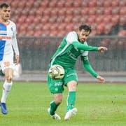 Erneut ein sicherer Wert auf St.Galler Seite: Tranquillo Barnetta (rechts) ist vor dem Zürcher Nedim Bajrami am Ball. (Bild: Claudio Thoma/Freshfocus)