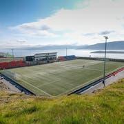 Was für ein Blick: Das Stadion in Toftir. (Martin Meienberger/Freshfocus, Toftir, 1. August 2019)