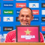 Das Schmunzeln ist zurück bei FCL-Trainer Thomas Häberli. Während der Medienkonferenz am Mittwoch in Barcelona ist der Ballwiler in aufgeräumter Stimmung. (Bild: Martin Meienberger/Freshfocus, 14. August 2019)