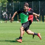 Nassim Ben Khalfia im Training mit dem FC St.Gallen. (Bild: Claudio Thoma/Freshfocus)