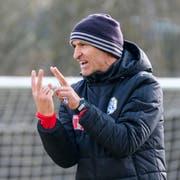 22.02.2019; Luzern; FUSSBALL SUPER LEAGUE - Training FC Luzern;Trainer Thomas Haeberli (Luzern) (Martin Meienberger/freshfocus)