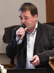Otto Seger stellt die Projekt-Studie vor. (Bild: Rita Kohn)