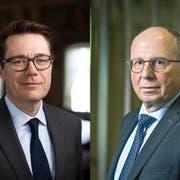 Finanzchef Benedikt Würth und Sicherheitsdirektor Fredy Fässler. (Bilder: Keystone, Michel Canonica)
