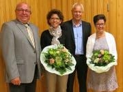 Von links: Georg Berwert, Irène Amstad, Hanspeter Wolfisberg, Brigitte von Flüe. (Bild PD)