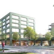 Die Überbauung Birkenhof soll unterschiedlich genutzt werden und gleichzeitig als Publikumsmagnet für das neue Zentrum dienen. (Visualisierung: PD)