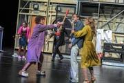 «Der nackte Wahnsinn», eine Komödie von Michael Frayn, feierte am 11.Januar 2019 Premiere im Grossen Haus des Theaters St.Gallen (Bild: Sebastian Hoppe)