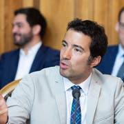 Der Ausserrhoder FDP-Ständerat Andrea Caroni spricht im Ständerat. (Bild: KEYSTONE/Peter Klaunzer)