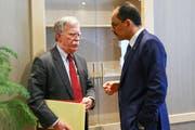 Der nationale Sicherheitsberater von US-Präsident Donald Trump, John Bolton, un der türkische Sicherheitsberater Ibrahim Kalin (rechts). Bild: EPA (Ankara, 8. Januar 2019)