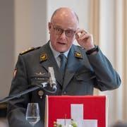 Der Chef der Armee, Philippe Rebord, sorgt sich um sinkende Armeebestände und sieht gar die Auftragserfüllung gefährdet. (Bild: KEYSTONE/Urs Flüeler)