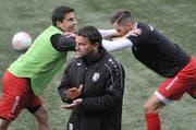 Heris Stefanachi motiviert bald die Spieler des SC Brühl. (Bild: Urs Nobel)