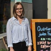 Denise Keel vor dem Quartiertreff an der Löwenstrasse. (Bild: Valentina Thurnherr)