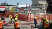 Der Brand brach infolge von Sanierungsarbeiten am Flachdach aus. (Bild: Michael Hug)