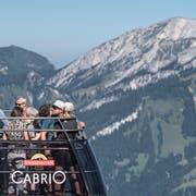 1,24 Millionen Gäste fuhren im letzten Geschäftsjahr mit den Titlis-Bahnen. Gruppenreisende machen inzwischen knapp 42 Prozent aller Gäste aus. Das Unternehmen sieht Potenzial für 10 Prozent mehr Gäste. (Bild: Nadia Schärli, 27. Juli 2019)