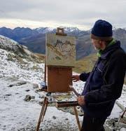 Lorenz Huber an der Arbeit in der Natur. (Bild: PD)