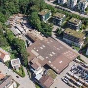 Auf dem Areal der Stadtsäge soll dereinst Wohnraum für 240 Personen entstehen. (Bild: Ralph Ribi, 16. Juli 2018)