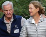 Der schweizerisch-brasilianische Milliardär und Investor Jorge Paulo Lemann mit seiner Frau Susanna Mally Lemann, die im Stiftungsrat der Lemann-Stiftung sitzt. Die Familie wohnt in Rapperswil-Jona (SG). (Bild: Keystone)