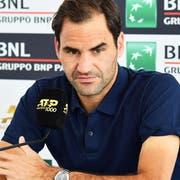 Roger Federer spielen zu sehen hat seinen Preis – auch nach seiner spontanen Zusage für das Turnier in Rom. (Bild: EPA/Ettore Ferrari, Rom, 14. Mai 2019)