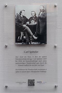 Die Gedenktafel erinnert an Carl Spitteler (1845-1924). (Bild: Boris Bürgisser, Luzern, 15. März 2019)