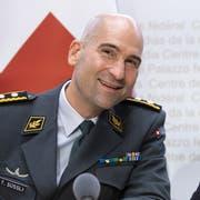 Bundesrätin Viola Amherd bei der Präsentation von Thomas Süssli, dem neuen Chef der Armee. (Bild: Peter Klaunzer / Keystone, Bern, 4. September 2019)