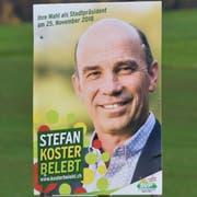Wahlplakat von Stefan Koster. (Bild: Manuel Nagel)