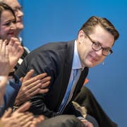 Nomination im Gemeindezentrum Mörschwil: Benedikt Würth soll für die CVP den Ständeratssitz zurückholen. (Bilder: Michel Canonica)