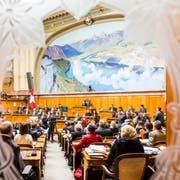 Blick in den Nationalratssaal. (KEYSTONE/Thomas Hodel)