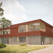 Eine Visualisierung des geplanten Kindergarten-Neubaus Brotegg. (Bild: PD)