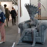 «Dancer» heisst dieses Werk des belgischen Künstlers Hans de Beeck an der Art Basel. (Bild: Georgios Kefalas/Keystone, Basel, 11. Juni 2019)