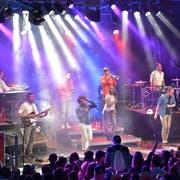 Lo & Leduc haben ihren Auftritt am Eidgenössischen am Samstagabend. (Bild: Christian Herbert Hildebrand, 26. Juni 2015)