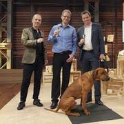 Martin Sailer präsentierte seine Hunde-Intelligenzspiele in der Sendung «Höhle der Löwen». (Bild: PD)