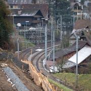 Erste Vorarbeiten für das Projekt Zugersee Ost sind bereits am Laufen. (Bild: Maria Schmid (Walchwil, 7. Januar 2019))