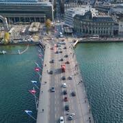 Das Verkehrsaufkommen auf der Seebrücke hat sich innert weniger Jahre um sechs Prozent reduziert. (Bild: Boris Bürgisser, Luzern, 27. März 2019)