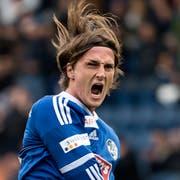 Hier freut sich Hekuran Kryeziu noch über sein 1:0 für den FC Luzern gegen den FC St. Gallen im April. (KEYSTONE/Georgios Kefalas)