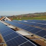Peter Schürch von der Peter Schürch AG zeigt die Solaranlage auf dem Dach seiner Firma. Fotografiert am 25. November 2009 in Sempach.NLZ Boris BürgisserSolarenergieSonnenenergie
