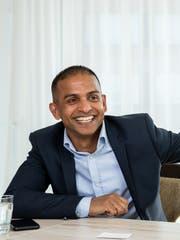 Lathan Suntharalingam, Geschäftsleiter Spitex Seeblick (Bild: Philipp Schmidli, Egerkingen, 2. April 2019)