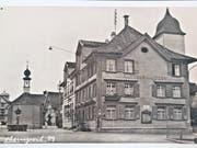 Der «Adler» in Oberuzwil, der später in Gasthof Post umbenannte wurde.