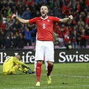 Ebnete mit seinem Treffer zum 1:0 den Weg für die plötzlich gute Ausgangslage der Schweizer Nati in der EM-Qualifikation: Haris Seferovic. (Bild: Keystone)