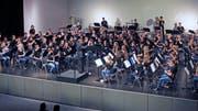 Das Jugendblasorchester während des Konzerts. (Bild: PD)