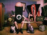 Plüschig und provokativ: The Sex Organs ziehen mit ihren Kostümen eine lustig-bizarre Show ab. (Bild: PD)