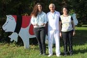 Sind stolz: Kerstin, Paul und Elisabeth Koch.(Bilder: Trudi Krieg)